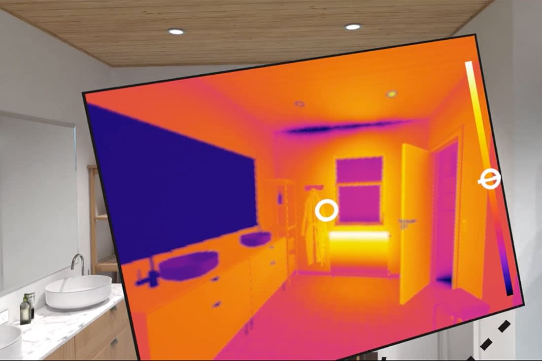 VR Simulation of Building Thermography Inspection